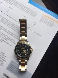 Rolex black face submariner two tone