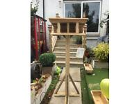 Hand crafted strong bird table .