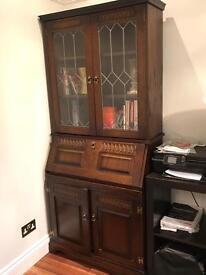 Vintage wooden bureau/ desk/cabinet