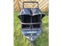 Out n About Nipper 360 Double Buggy - Raven Black