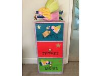 Children's wooden 3 drawer chest or bedside table
