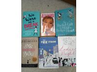 6 great condition mostly romantic comedy books.