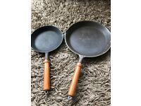 2 x heavy frying pans