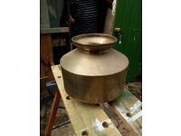 Brass pot/tub/spitoon