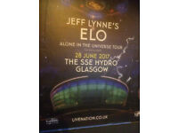 Jeff Lynne's ELO (Electric Light Orchestra) - SSE Hydro, Glasgow - 1 or 2 Tickets for sale