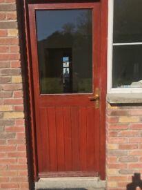Mahogany back door