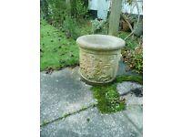 Garden pot, attractive design, height 34cm, diameter 37cm. Bargain £15. Telephone: 07973858359