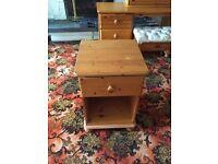 Solid Honey Pine Bedside cabinet