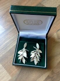 Silver earings made by Graham Stewart in Dunblane