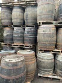Oak barrels …approx 900 high ..£45 each