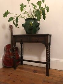 antique console table with drawers