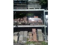 Large or small quantities of various Reclaimed roof tiles for sale