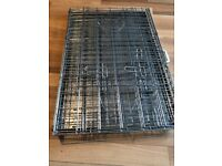Dog cage. fully galvanised with galv base VGC. 90cm x 60cm x 60cm. £20, can delvr close to G535YY