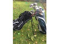 Golf clubs plus bag