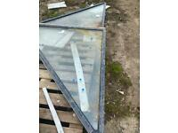 double glazed anthracite left and right triangle windows