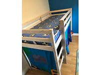 Shorty mid sleeper bed with tent and mattress
