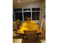 Lovely Large Extendable Wooden Dining Table