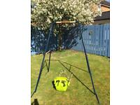 Swing and child's toddler seat outdoor toys