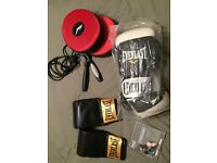 Boxing items - punchball and gloves