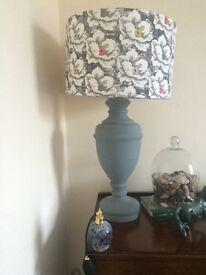 Lovely upcycled lamp with John Lewis shade