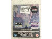 Blade Runner 2049 Steelbook Mondo Artwork 4K + 3D Blu Ray + 2D Blu Ray + UV Code Sealed BNIB