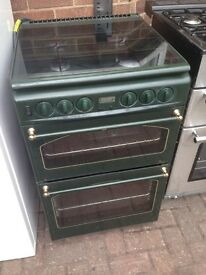 Gas cooker belling green colour...55cm. Cheap free delivery