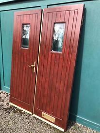Double wooden front doors
