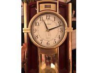 Mahogany & Gold Wall Clock