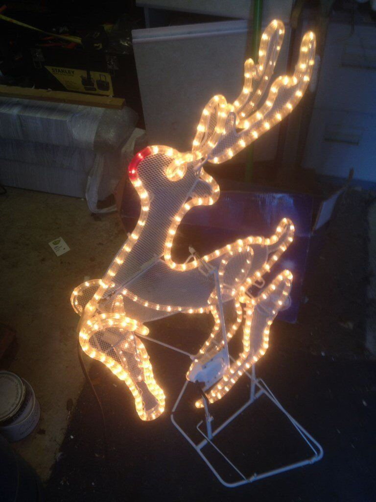 Christmas rope light decoration, Xmas outdoor moving leaping deer