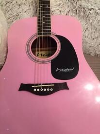 Westfield pink guitar