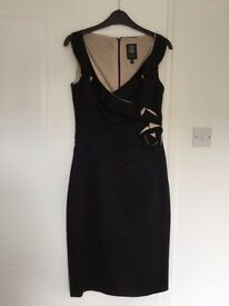 Ladies occasion black dress - Jax US size 4. UK Size 8. Fitted stretch
