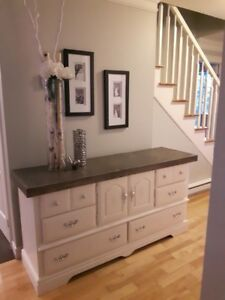 Beautiful Refinished Dresser - Solid Wood Finished Top