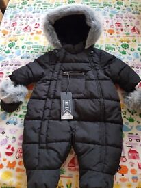 New and never worn My K snowsuit (new baby size)
