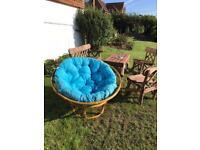 Bamboo circular recliner chair