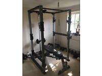 Home Gym - Bodycraft F430 Power Rack, F320 Bench, F431 Lat/Low Pulley and Extras