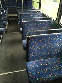 Double Decker Bus Seats, all double seats. Collect Newton Abbot in Devon. Most very good condition.