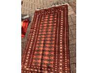 Pink Bokhara rug
