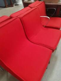 Red french Fabric chairs + Delivery