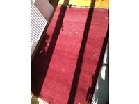 Deep red ikea real wool rug never used kept in storage 140 x 200cm