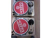 Pair of Newark tt 1 and tt 2 turntables