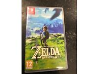 The legend of Zelda breath of the wild switch game