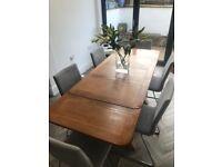 Solid Oak Vintage Extending Dining Table