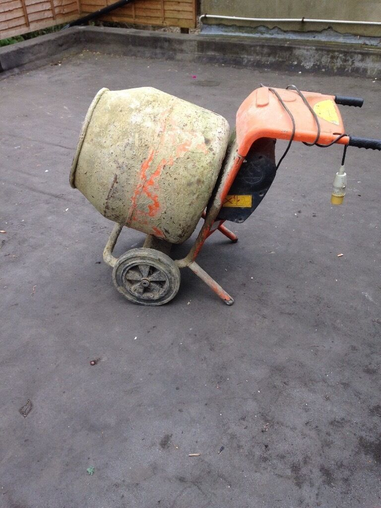 Used Small Cement Mixers : Used cement mixer with transformer in caterham surrey
