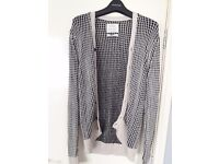 Black and Cream men's All Saints Cardigan, barely worn, great condition