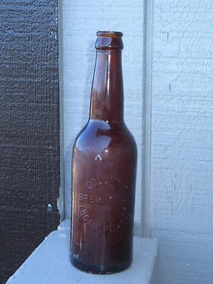 Antique Pre-Prohibition Columbia Brewing Co. Logansport, Ind. Beer Bottle NICE!