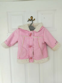 Ladybird pink jacket for 3-6 months
