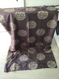 Purple pattern curtains