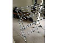 3 tier clothes horse (14m) + plastic laundry basket