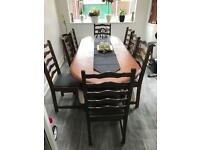 8 CHAIRS DINING TABLE