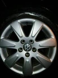 Vw standard alloys 5x112 with tyres